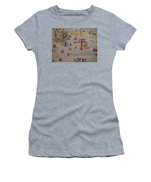 Ski Area Women's T-Shirt (Athletic Fit)