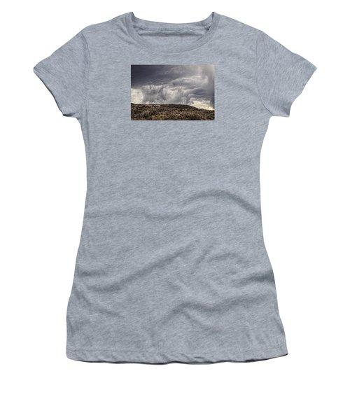 Skirting The Storm Women's T-Shirt (Junior Cut) by Joan Davis