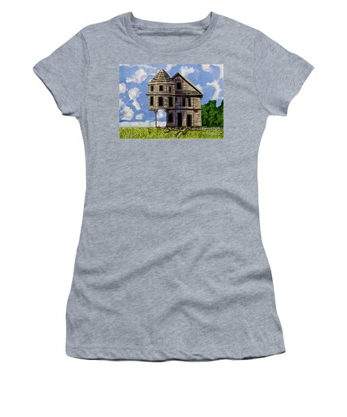 Slumber A Chance To Dream Watercolor Art Prints Women's T-Shirt (Athletic Fit)