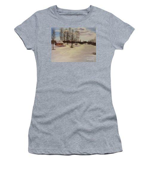 Snow In Solbrinken Women's T-Shirt (Junior Cut) by Martin Howard