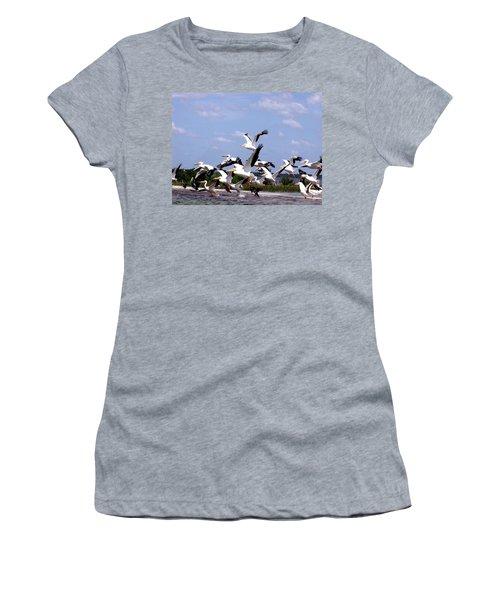 Snowbirds Heading South Women's T-Shirt (Athletic Fit)