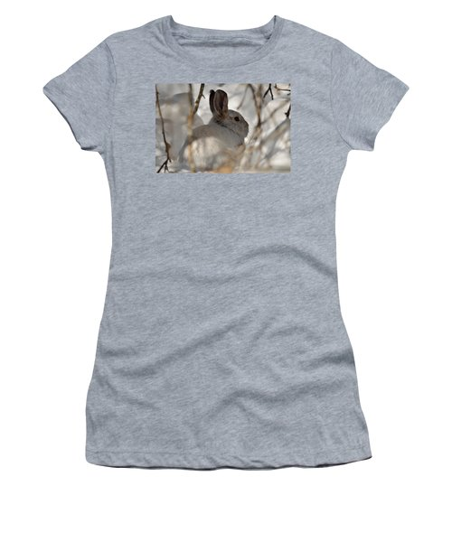 Snowshoe Hare Women's T-Shirt (Athletic Fit)