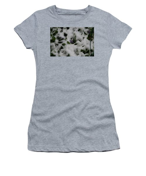 Women's T-Shirt (Junior Cut) featuring the photograph So Much For An Early Spring by David S Reynolds