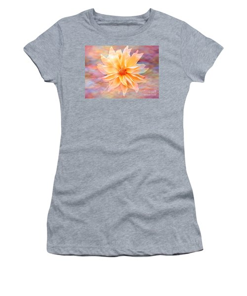 Women's T-Shirt (Junior Cut) featuring the photograph Soft Delightful Dahlia by Judy Palkimas