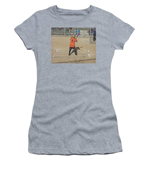 Women's T-Shirt (Junior Cut) featuring the photograph Softball Star by Michael Porchik