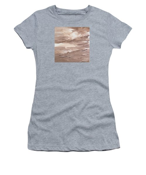 Women's T-Shirt (Junior Cut) featuring the painting Solitude by Susan  Dimitrakopoulos