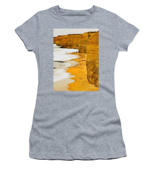 Southern Ocean Cliffs Women's T-Shirt (Athletic Fit)