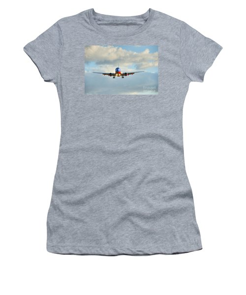Southwest Airline Landing Gear Down Women's T-Shirt (Athletic Fit)