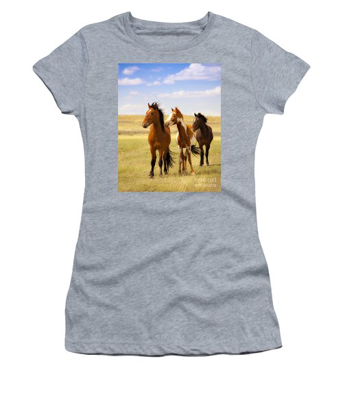 Southwest Wild Horses On Navajo Indian Reservation Women's T-Shirt (Athletic Fit)