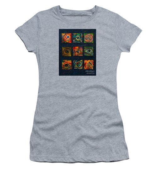 Women's T-Shirt (Junior Cut) featuring the painting Spirit Eye Collection I by Deborha Kerr