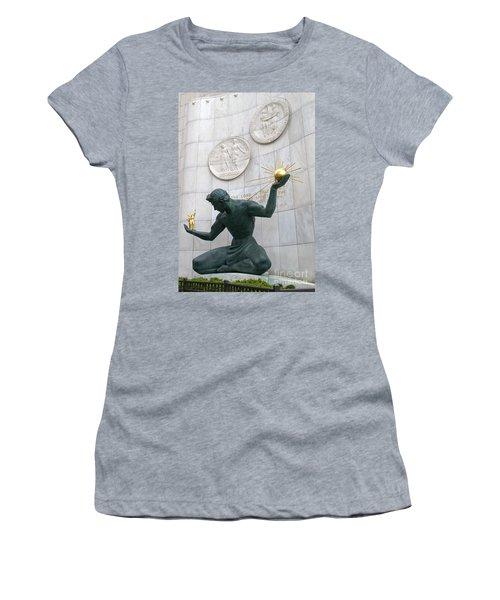 Spirit Of Detroit Monument Women's T-Shirt (Junior Cut) by Ann Horn
