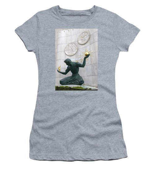 Spirit Of Detroit Monument Women's T-Shirt (Athletic Fit)