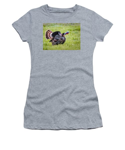 Women's T-Shirt featuring the photograph Spring Gobbler by Michael Chatt