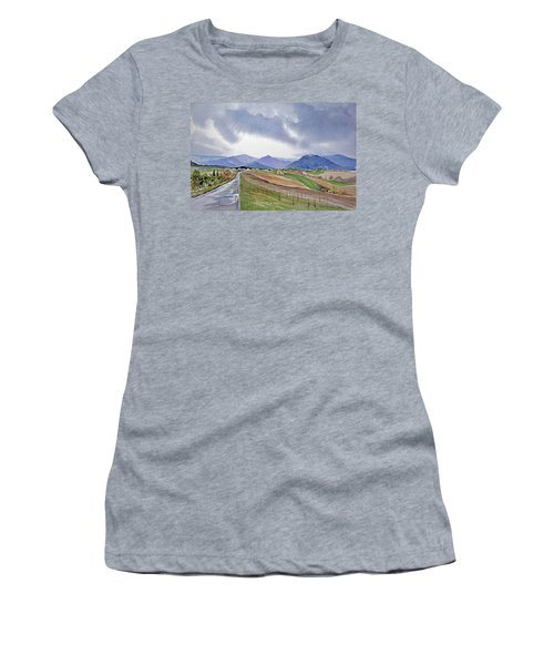 Spring Rain In Tuscany Women's T-Shirt (Athletic Fit)
