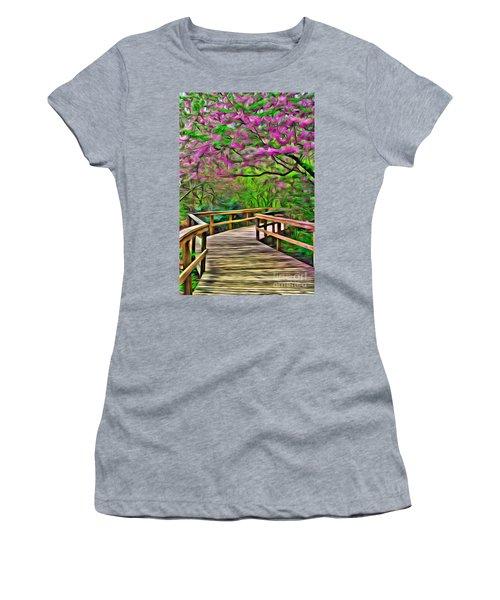 Spring Walk - Paint Rendering Women's T-Shirt