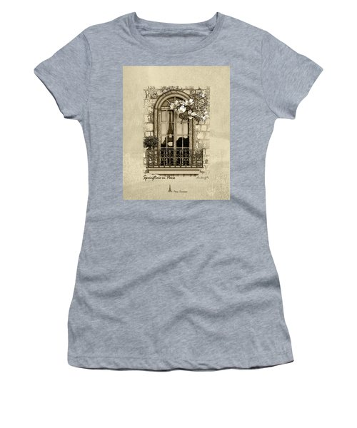 Springtime In Paris In Sepia Women's T-Shirt