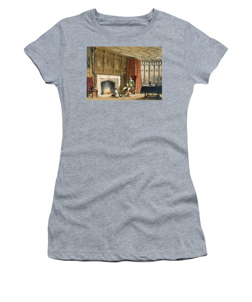 Squire With His Dogs By The Hearth Women's T-Shirt