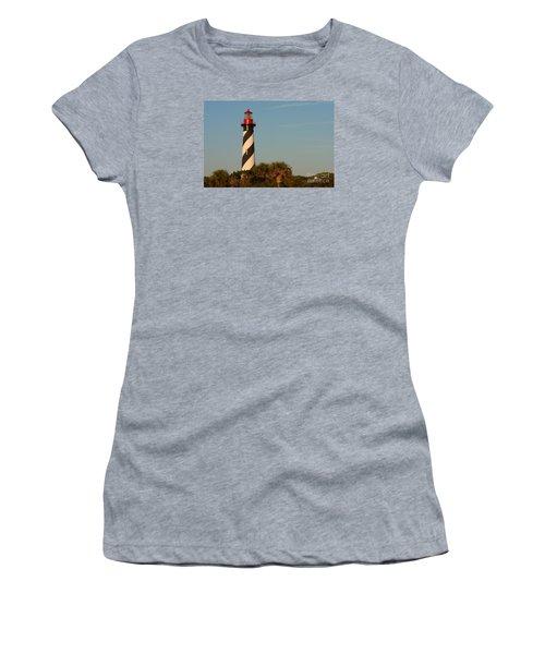 St. Augustine Lighthouse #3 Women's T-Shirt (Junior Cut) by Paul Rebmann