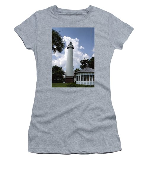 St. Simon's Island Georgia Lighthouse Women's T-Shirt (Athletic Fit)
