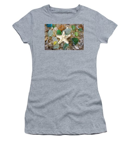 Starfish Fine Art Photography Seaglass Coastal Beach Women's T-Shirt
