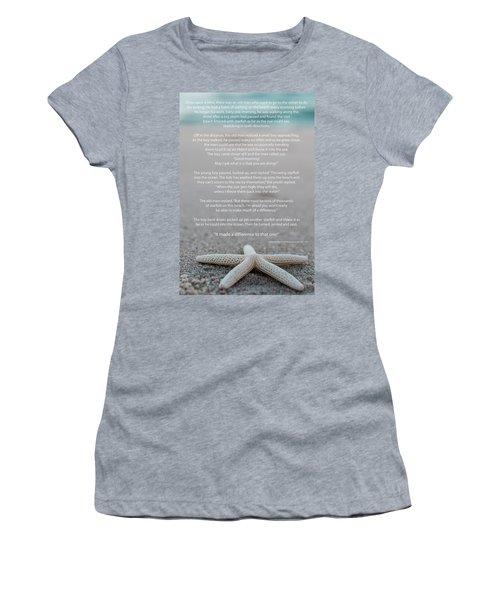 Starfish Make A Difference  Women's T-Shirt