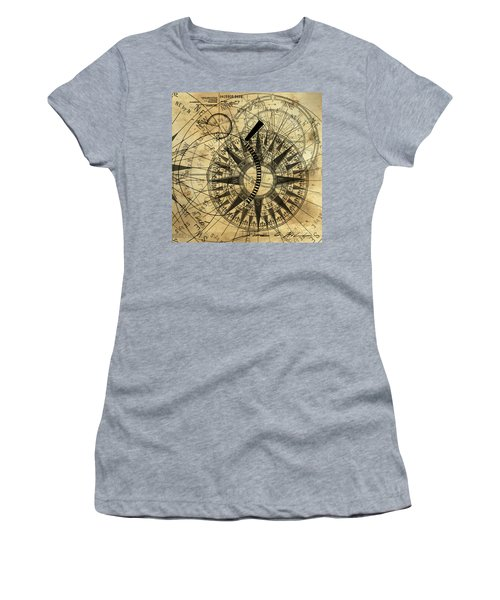 Steampunk Gold Compass Women's T-Shirt