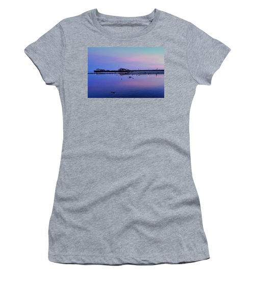 Stearn's Wharf Over Pond Women's T-Shirt