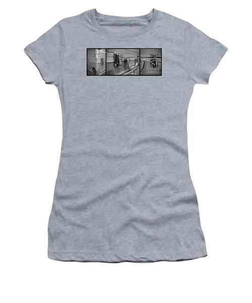 Steel Box - Triptych Women's T-Shirt (Junior Cut) by James Aiken