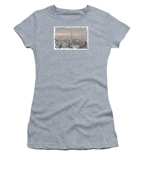 Steeples In The Snow Women's T-Shirt (Junior Cut) by Nadalyn Larsen