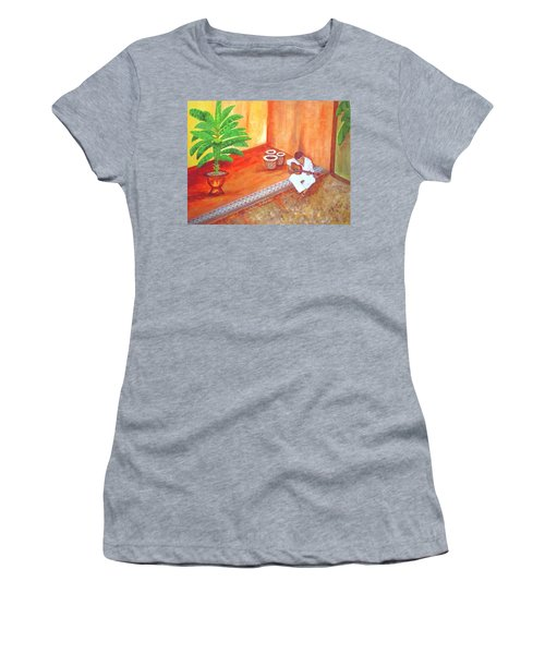 Steve While On Safari In South Africa Women's T-Shirt (Athletic Fit)