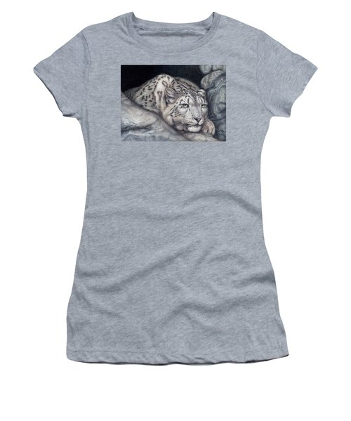 Women's T-Shirt (Junior Cut) featuring the painting Stillnes Like A Stone by Pat Erickson