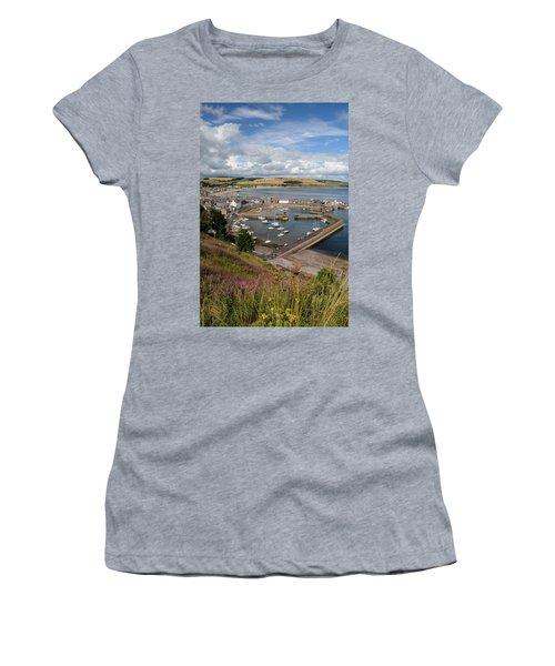 Stonhaven Harbour  Scotland Women's T-Shirt (Athletic Fit)