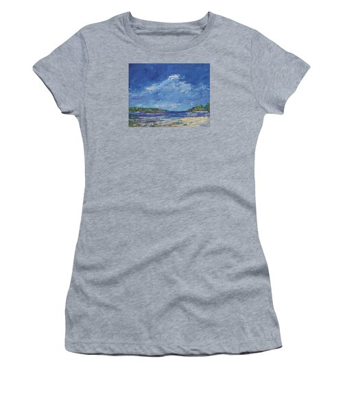 Stormy Day At Picnic Island Women's T-Shirt (Junior Cut) by Gail Kent