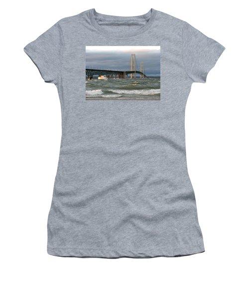 Stormy Straits Of Mackinac Women's T-Shirt