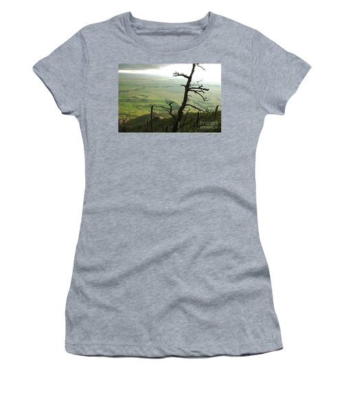 Women's T-Shirt (Junior Cut) featuring the photograph Stormy Tree by Mary Carol Story