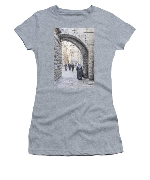 Street In Jerusalem Old Town Israel Women's T-Shirt (Athletic Fit)