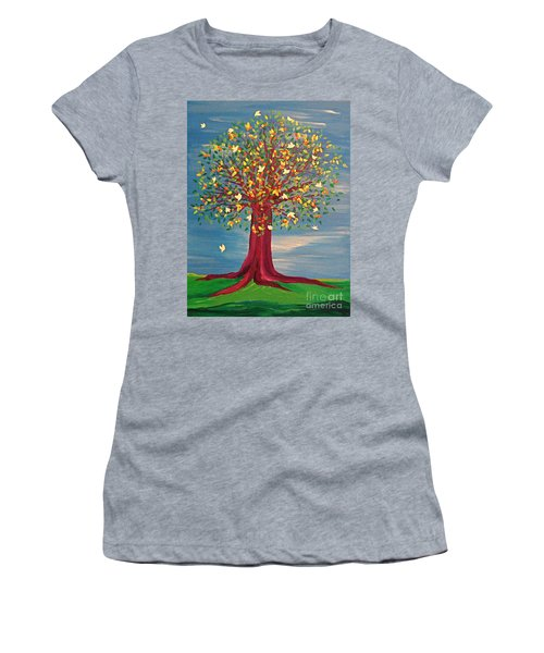 Summer Fantasy Tree Women's T-Shirt (Athletic Fit)