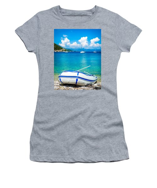 Summer Sailing In The Med Women's T-Shirt (Athletic Fit)