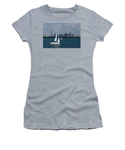 Summer Sailing Postcard From Toronto Women's T-Shirt