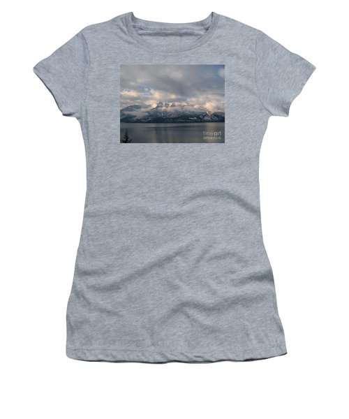 Sun On The Mountains Women's T-Shirt (Junior Cut) by Leone Lund
