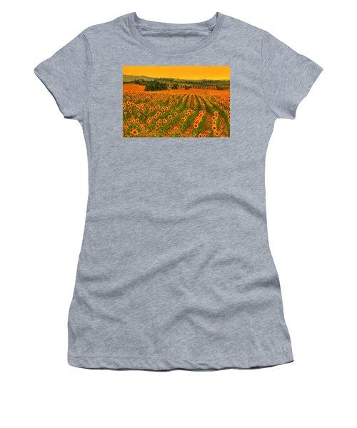 Sunflower Dream Women's T-Shirt (Athletic Fit)