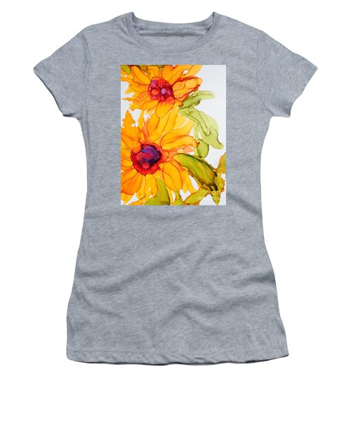 Sunflower Duo Women's T-Shirt (Athletic Fit)