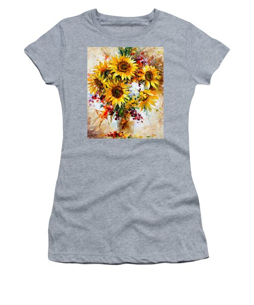 Sunflowers Of Happiness New Women's T-Shirt