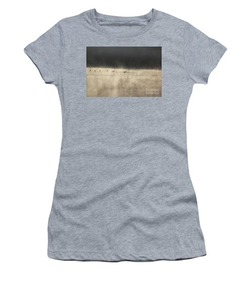Sunrise Geese Women's T-Shirt (Athletic Fit)