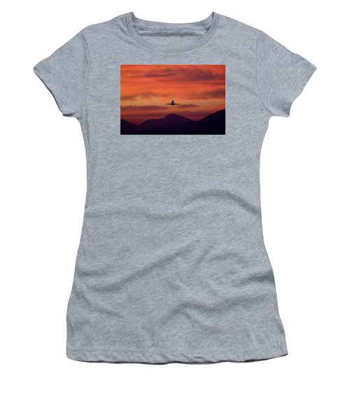 Sunrise Takeoff Women's T-Shirt (Athletic Fit)