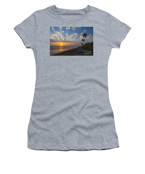 Women's T-Shirt featuring the photograph Sunset At Alibag, Alibag, 2007 by Hitendra SINKAR