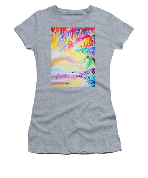 Sunset At Kuto Beach Women's T-Shirt