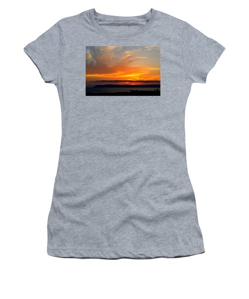 Sunset At Point Loma From Coronado California Women's T-Shirt (Athletic Fit)