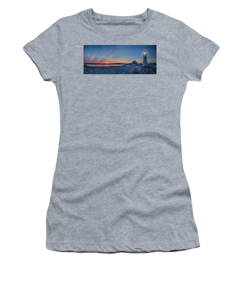 Sunset At Scituate Light Women's T-Shirt