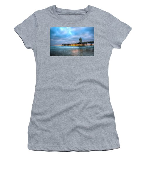 Sunset Beneath The Pier Women's T-Shirt (Athletic Fit)